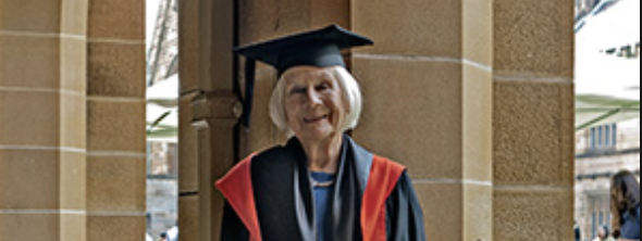 Nonagenarian Dr Lis Kirkby – former actress, broadcaster, parliamentarian, and doctoral researcher – WOAE050