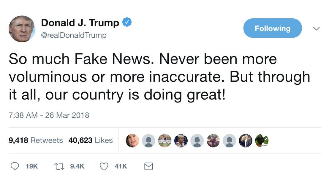 Tweets from Trump's first year as president, Alexandra Carlton –WOAE053